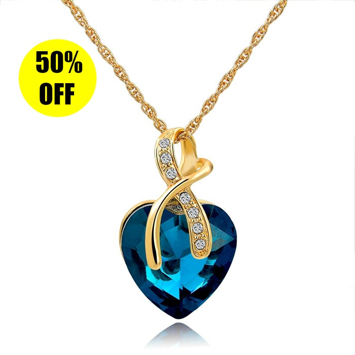 CS-DB Jewelry Silver Sparkling Lace Chain Charm Pendants Necklaces
