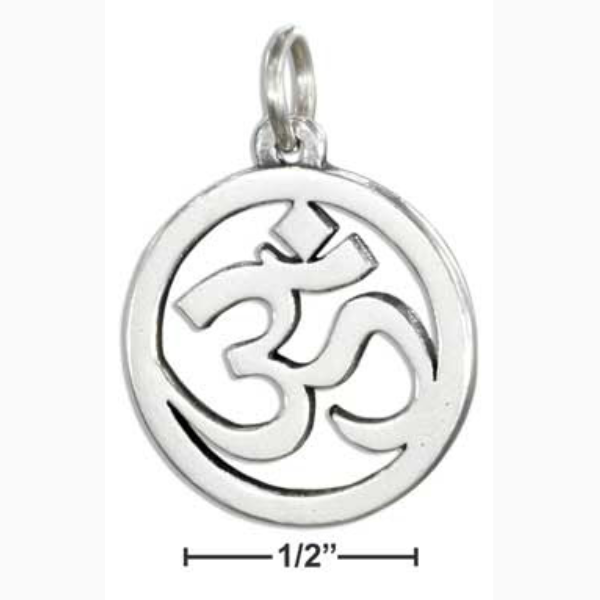 Sterling silver om pendant charlottes collection jewelry and sterling silver om pendant charlottes collection jewelry and home accessories boutique online aloadofball Image collections