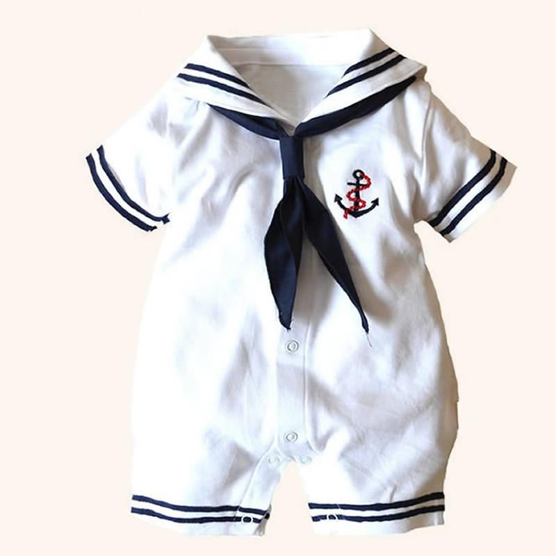 74679f39363b Infant Sailor Romper - Bitsy Boom