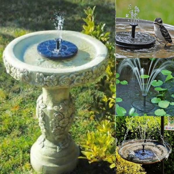 Solar Powered Bird Fountain Kit Clever Fair