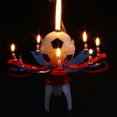 Soccer Trophy Cup Birthday Candle