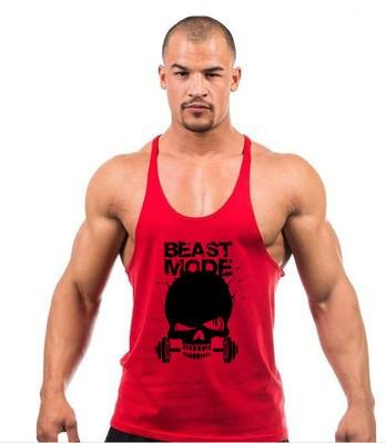 ba7d1e0c55446 Beast Mode Skeleton Head - Men s Bodybuilding Tank Top - Shop Muscle Gear